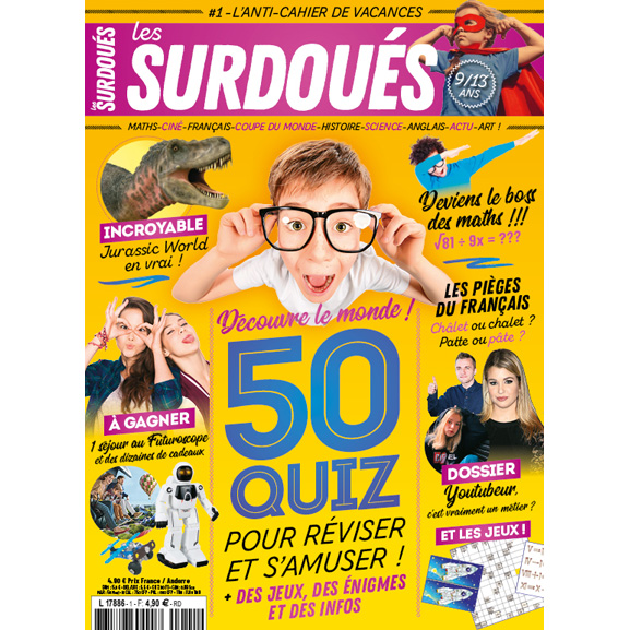 abonnement magazine les surdou s pour enfants 9 13 ans. Black Bedroom Furniture Sets. Home Design Ideas